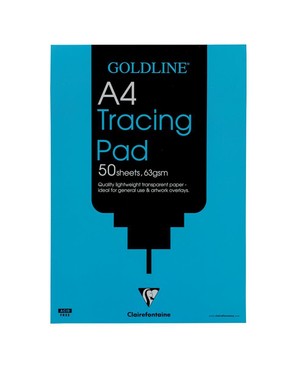 Image for Goldline Popular Tracing Pad 63gsm 50 Sheets A4 Ref GPT2A4Z [Pack 5]