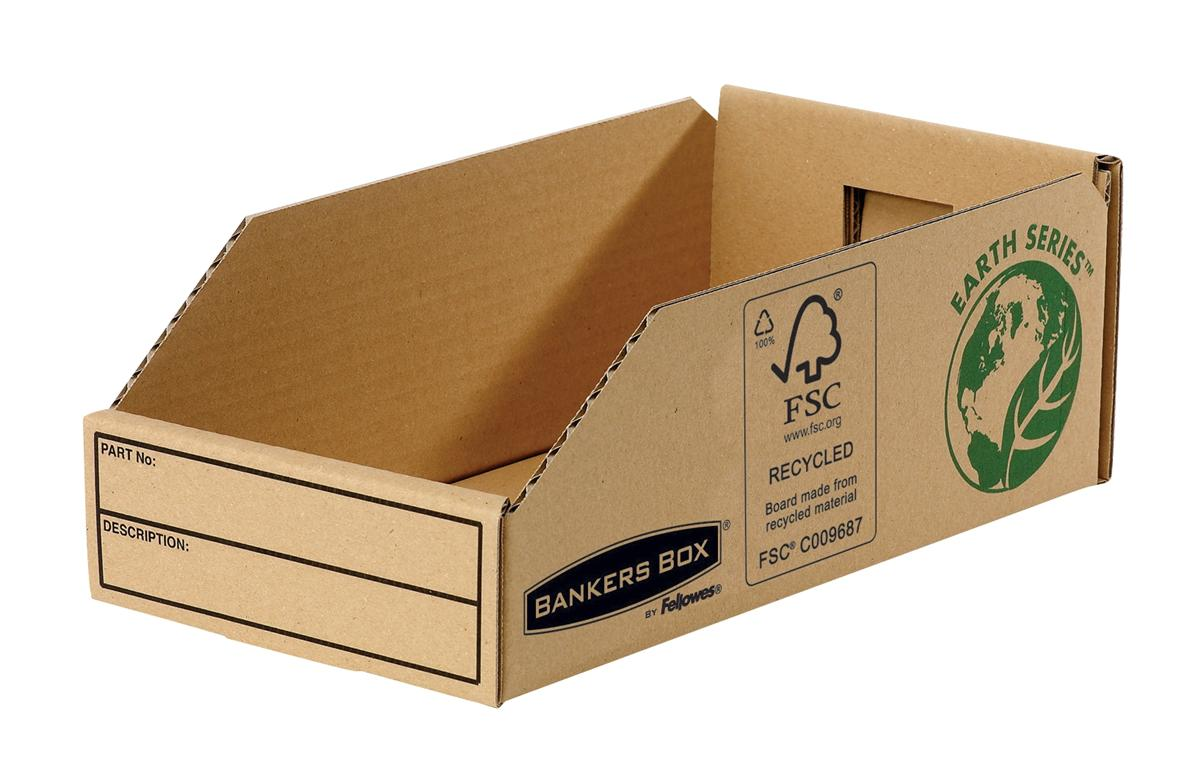 Image for Bankers Box by Fellowes Parts Bin Corrugated Fibreboard Packed Flat W147xD280xH102mm Ref 07354 [Pack 50]