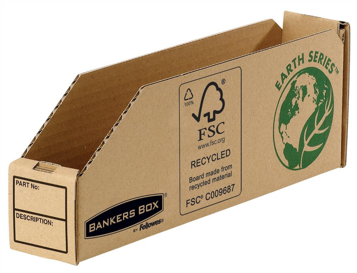 Image for Bankers Box by Fellowes Parts Bin Corrugated Fibreboard Packed Flat 51x280x102mm Ref 07351 [Pack 50]