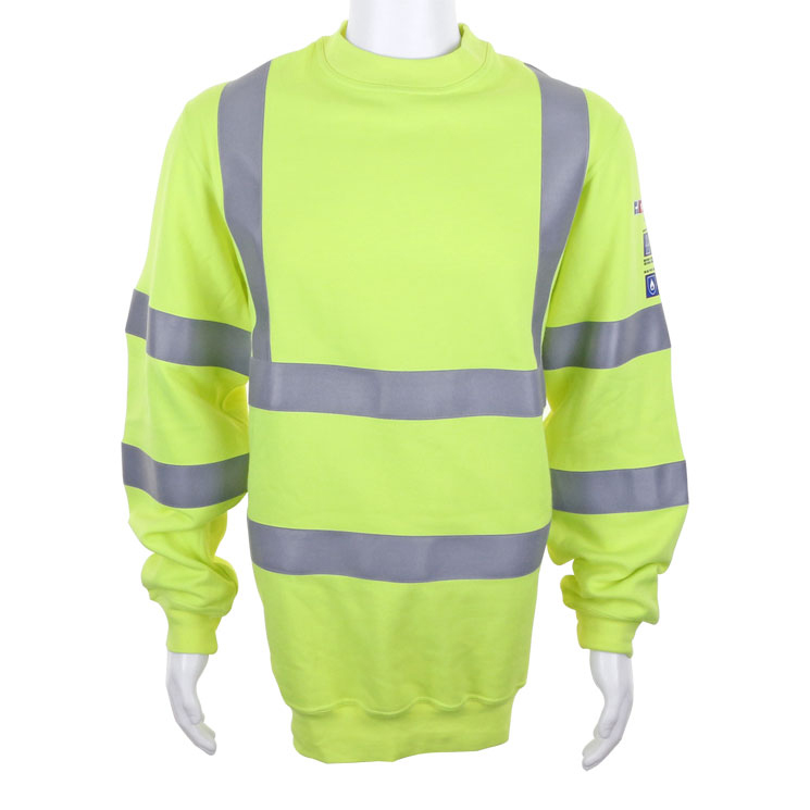 Click Arc Compliant Sweatshirt Fire Retardant S Saturn Yellow Ref CARC8SYS *Up to 3 Day Leadtime*
