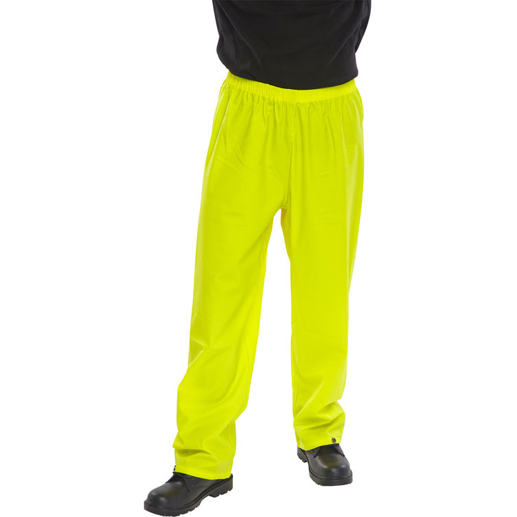 B-Dri Weatherproof Super Trousers L Saturn Yellow Ref SBDTSYL *Up to 3 Day Leadtime*