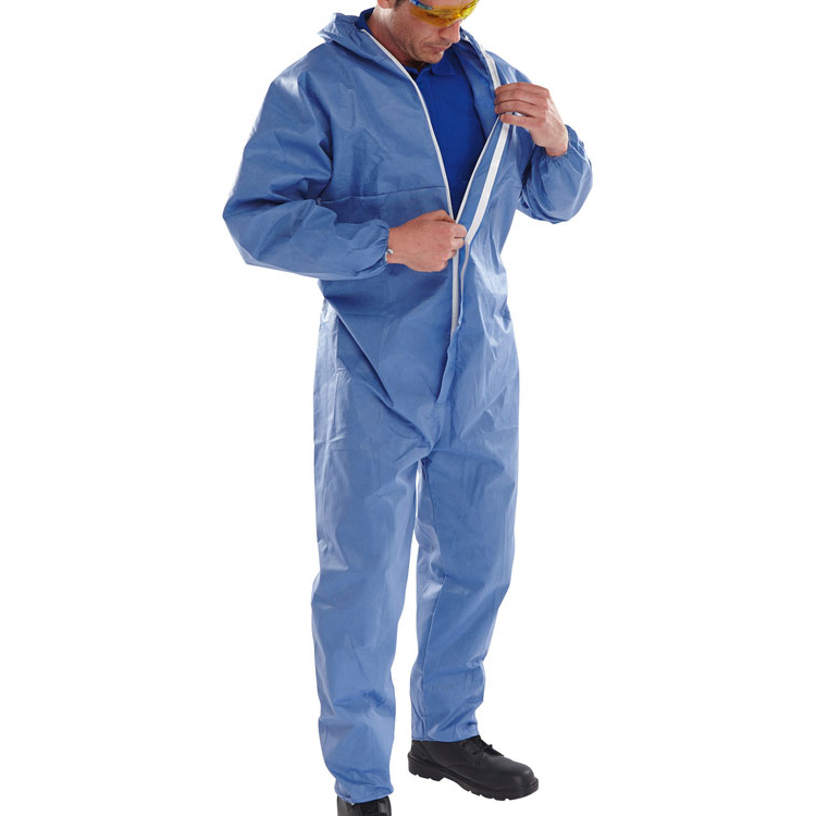 Click Once Disposable Boilersuit 2XL Blue Ref BCOC10NXXL Pack 50 *Up to 3 Day Leadtime*