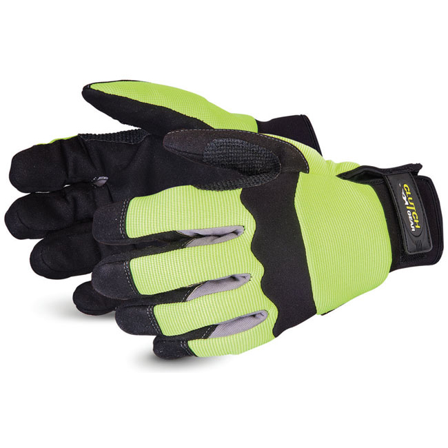 Superior Glove Clutch Gear Hi-Vis Mechanics M Yellow Ref SUMXHV2PBM *Up to 3 Day Leadtime*