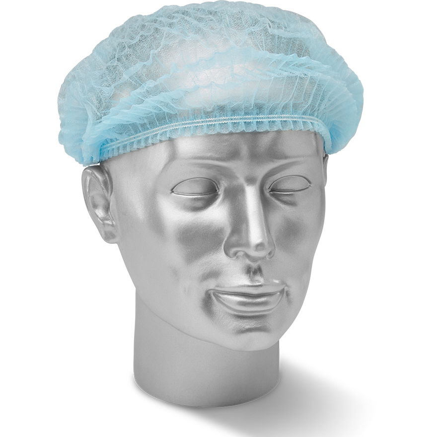 Protective hair net Click Once Disposable Mob Cap Blue Ref DMCB Pack 1000 *Up to 3 Day Leadtime*