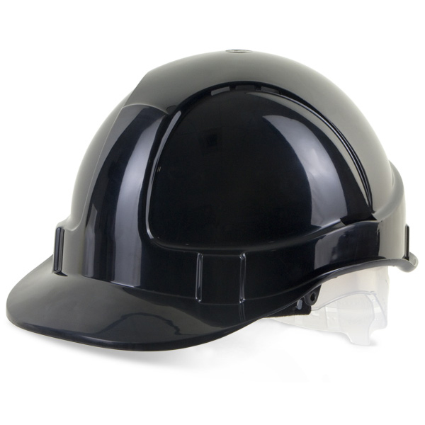Head Protection B-Brand Economy Vented Safety Helmet Black Ref BBEVSHBL *Up to 3 Day Leadtime*