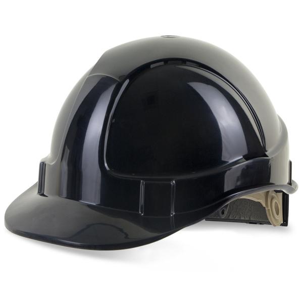 Head Protection B-Brand Wheel Ratchet Vented Safety Helmet Black Ref BBVSHRHBL *Up to 3 Day Leadtime*