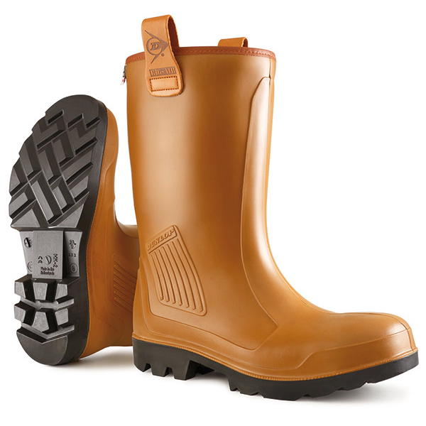 Dunlop Purofort Rigair Safety Rigger Boots Unlined Size 10 Tan Ref C46274310 *Up to 3 Day Leadtime*