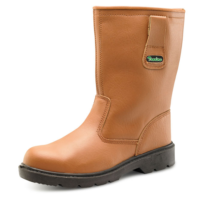 Click Traders S3 Thinsulate Rigger Boot PU/Leather Size 10 Tan CTF2810 *Up to 3 Day Leadtime*