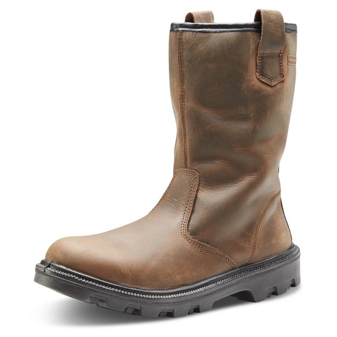 Click Footwear Sherpa Rigger Boot Dual Density PU/Rubber Size 11 Brown Ref SRB11 *Up to 3 Day Leadtime*