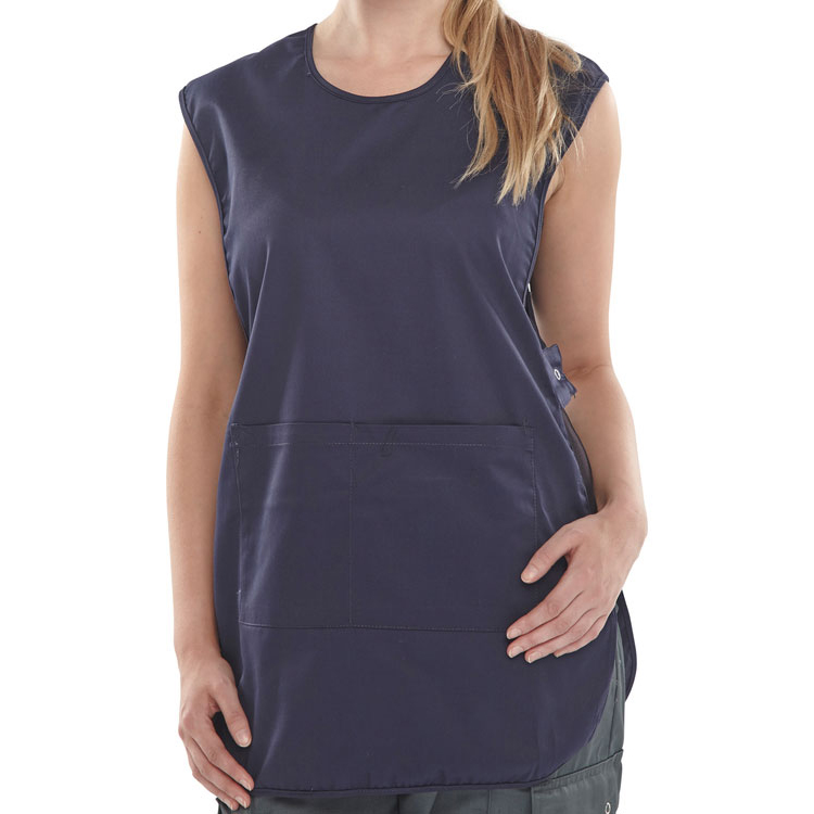 Click Workwear Tabbard PolyCotton Side Fastening 2XL Navy Blue Ref PCTABNXXL *Up to 3 Day Leadtime*