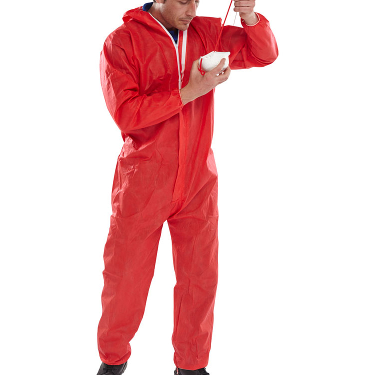 Click Once Disposable Boilersuit 2XL Red Ref BCOC10REXXL Pack 50 *Up to 3 Day Leadtime*