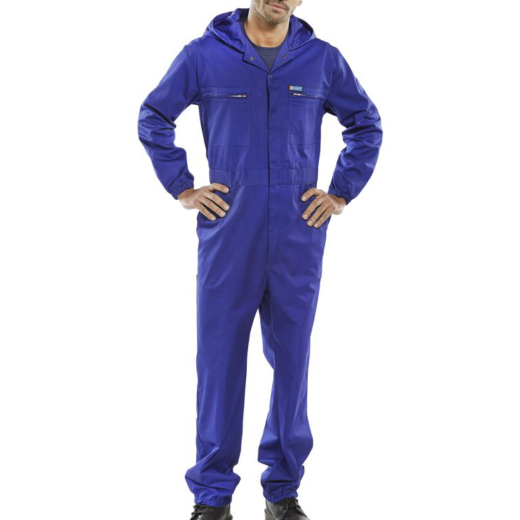 Coveralls / Overalls Super Click Workwear Hooded Boilersuit Royal Blue Size 44 Ref PCBSHCAR44 *Up to 3 Day Leadtime*