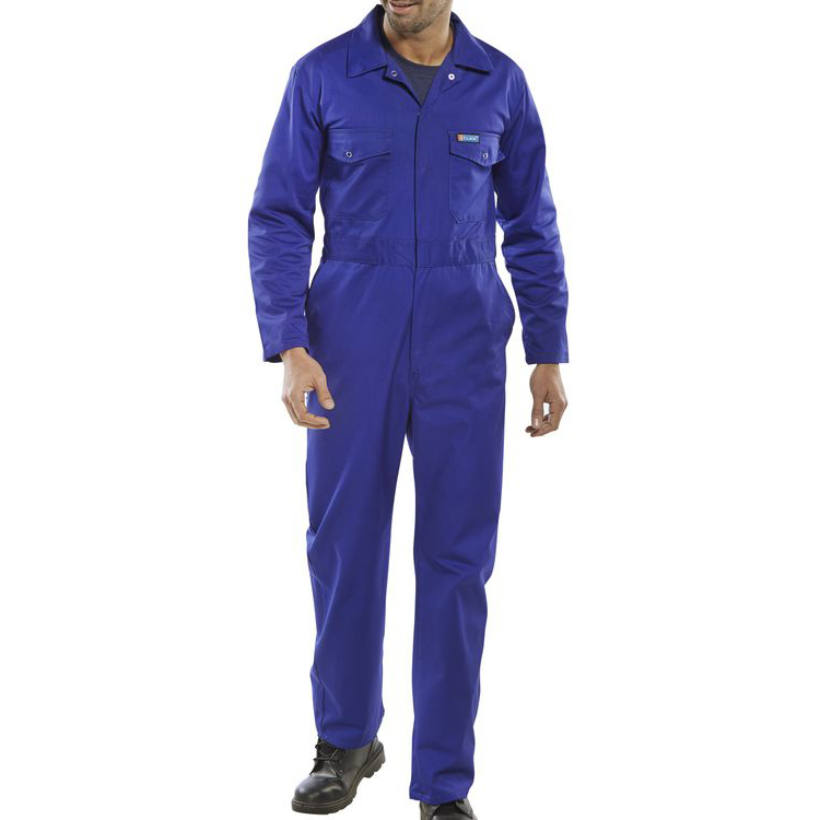 Coveralls / Overalls Click Workwear Boilersuit Royal Blue Size 58 Ref PCBSR58 *Up to 3 Day Leadtime*