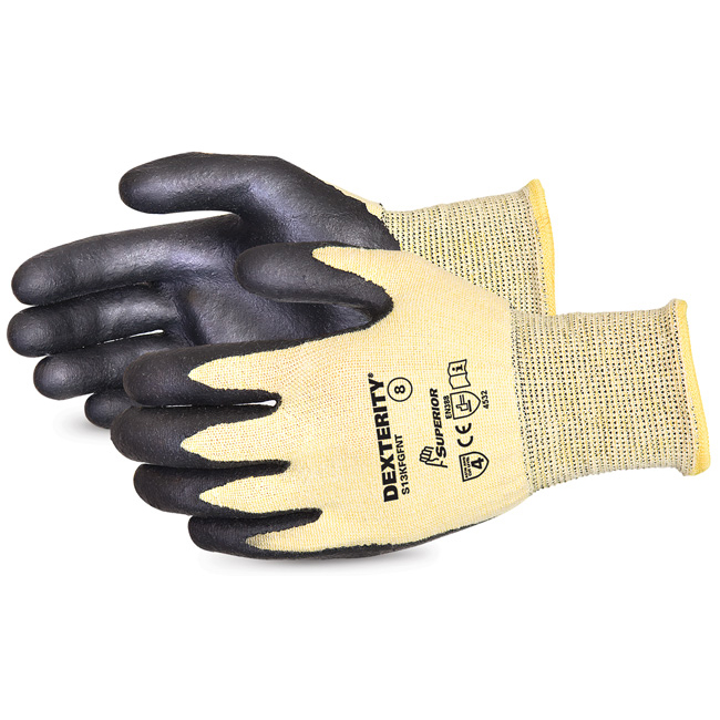 Superior Glove Dexterity Cut-Resistant Nitrile Palm 10 Black Ref SUS13KFGFNT10 *Up to 3 Day Leadtime*