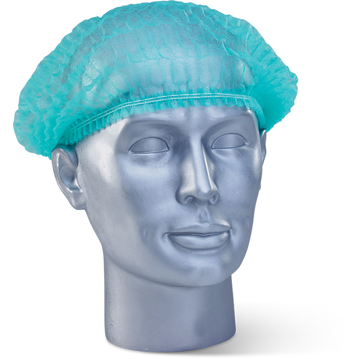 Protective hair net Click Once Disposable Mob Cap Green Ref DMCG Pack 1000 *Up to 3 Day Leadtime*