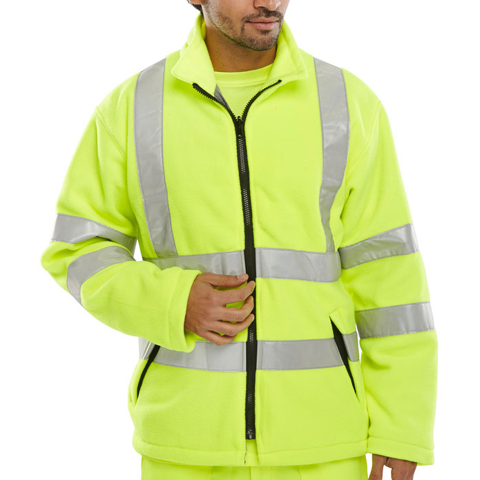 B-Seen High Visibility Carnoustie Fleece Jacket 5XL Saturn Yellow Ref CARFSYXXXXXL *Up to 3 Day Leadtime*