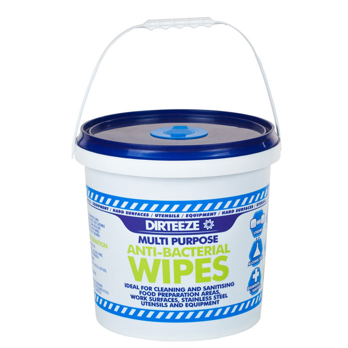 Dirteeze Anti-bacterial Wipes Dispenser Bucket Blue Ref DZAB1000 1000 Wipes *Up to 3 Day Leadtime*