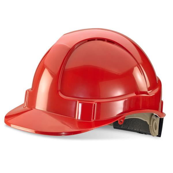 B-Brand Wheel Ratchet Vented Safety Helmet Red Ref BBVSHRHRE *Up to 3 Day Leadtime*