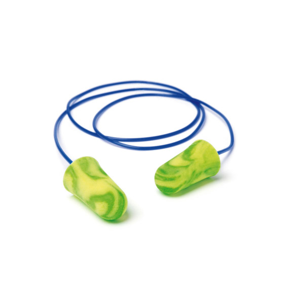 Moldex 6900 Pura-Fit Corded Earplugs PU Foam Green/Yellow Ref M6900 [Packed 200] *Up to 3 Day Leadtime*