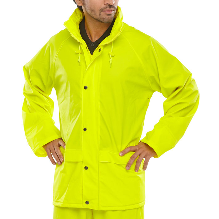 Weatherproof B-Dri Weatherproof Super B-Dri Jacket with Hood Large Saturn Yellow Ref SBDJSYL *Up to 3 Day Leadtime*
