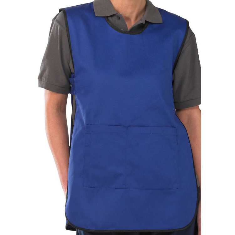 Click Workwear Tabbard PolyCotton Side Fastening Large Royal Blue Ref PCTABRL *Up to 3 Day Leadtime*