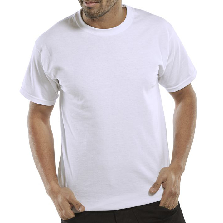 Click Workwear T-Shirt Heavyweight 2XL White Ref CLCTSHWWXXL *Up to 3 Day Leadtime*