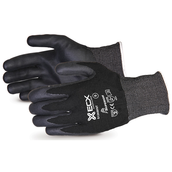 Superior Glove Emerald CX Nylon S/Steel Nitrile Palm 10 Black Ref SUS13KBFNT10 Upto 3 Day Leadtime