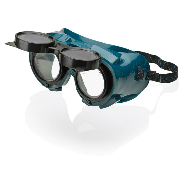 B-Brand Flip Front Welding Goggles Green Ref BBFFWG [Pack 12] Up to 3 Day Leadtime