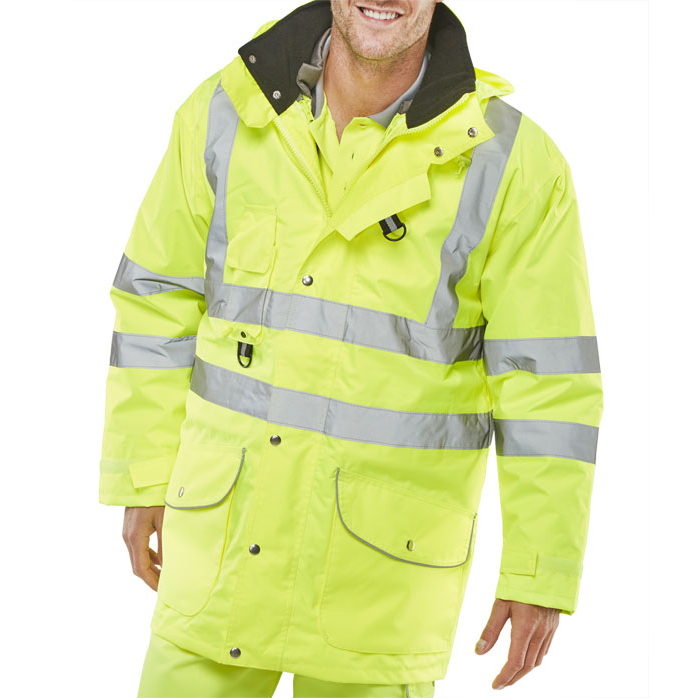 B-Seen Elsener 7 In 1 High Visibility Jacket XL Saturn Yellow Ref 7IN1SYXL *Up to 3 Day Leadtime*