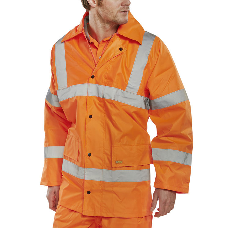 B-Seen High Visibility Lightweight EN471 Jacket 5XL Orange Ref TJ8OR5XL *Up to 3 Day Leadtime*
