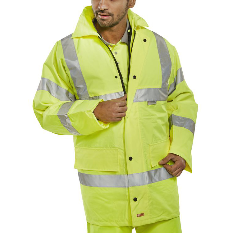 B-Seen 4 In 1 High Visibility Jacket & Bodywarmer Medium Saturn Yellow Ref TJFSSYM *Up to 3 Day Leadtime*