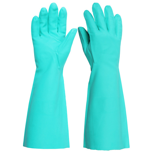 Click2000 Nitrile Green 18inch Green L (Size 9) Gloves Ref NG18L [Pack 5] *Up to 3 Day Leadtime*