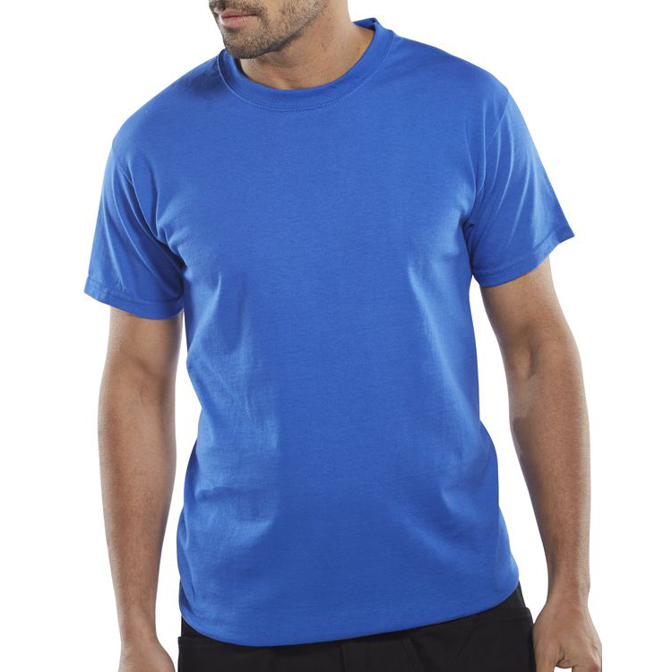 Mens tshirts Click Workwear T-Shirt Heavyweight 180gsm Large Royal Blue Ref CLCTSHWRL *Up to 3 Day Leadtime*
