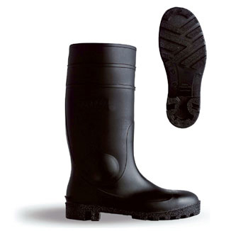 B-Dri Footwear Budget Wellington Boots Semi Safety PVC Size 3 Black Ref BBSSB03 *Up to 3 Day Leadtime*