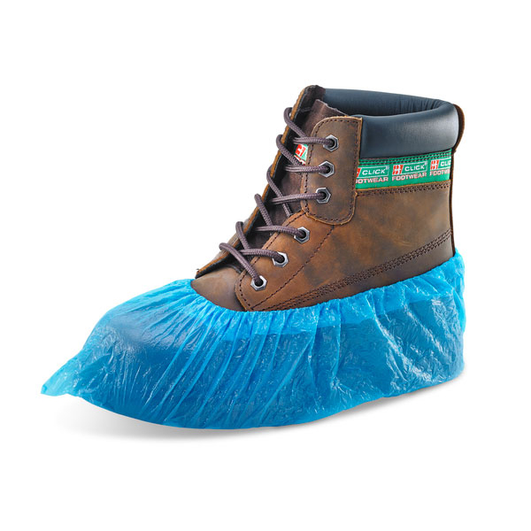 Click Once Economy Disposable Overshoe Waterproof Blue Ref DOSECB Pack 2000 *Up to 3 Day Leadtime*