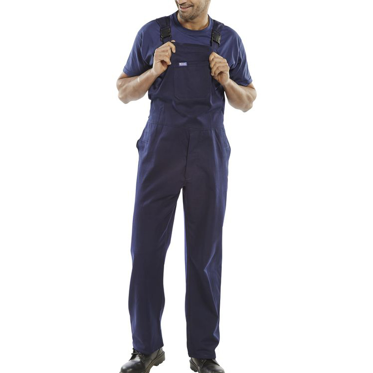 Click Workwear Bib & Brace Cotton Drill Size 44 Navy Blue Ref CDBBN44 *Up to 3 Day Leadtime*