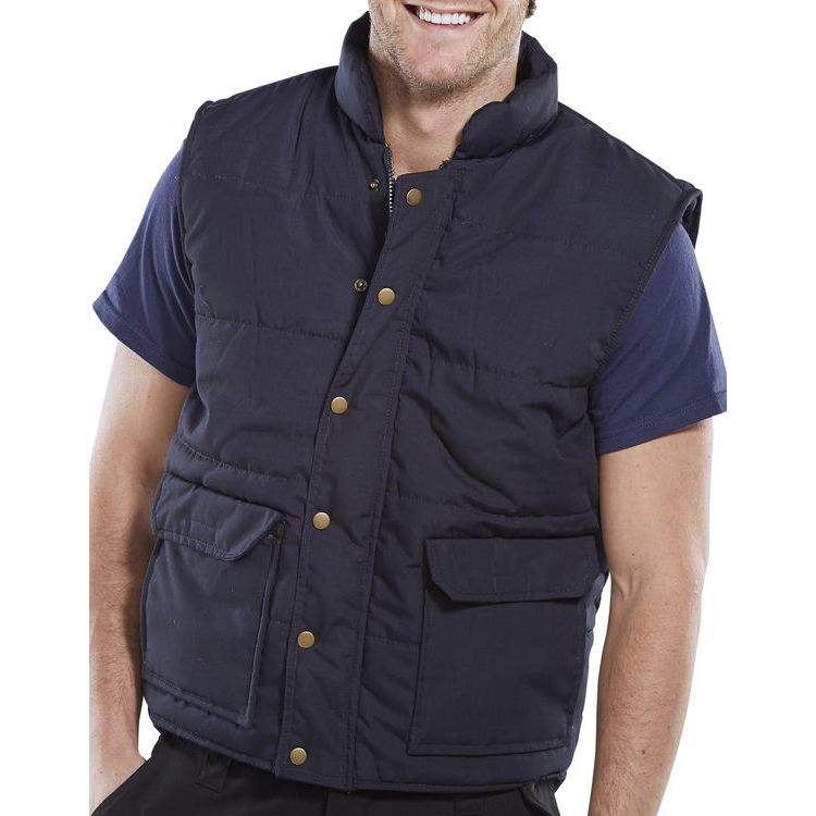 Body Protection Click Workwear Quebec Bodywarmer Medium Navy Blue Ref QNM *Up to 3 Day Leadtime*