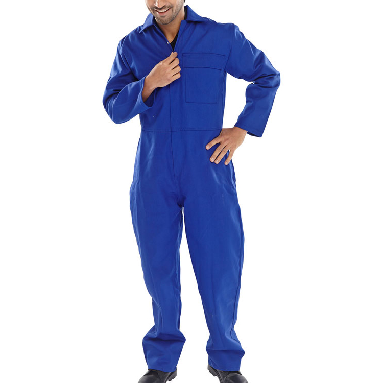Click Fire Retardant Boilersuit Cotton Size 60 Royal Blue Ref CFRBSR60 Up to 3 Day Leadtime
