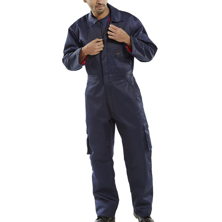 Click Workwear Quilted Boilersuit Navy Blue Size 48 Ref QBSN48 Up to 3 Day Leadtime