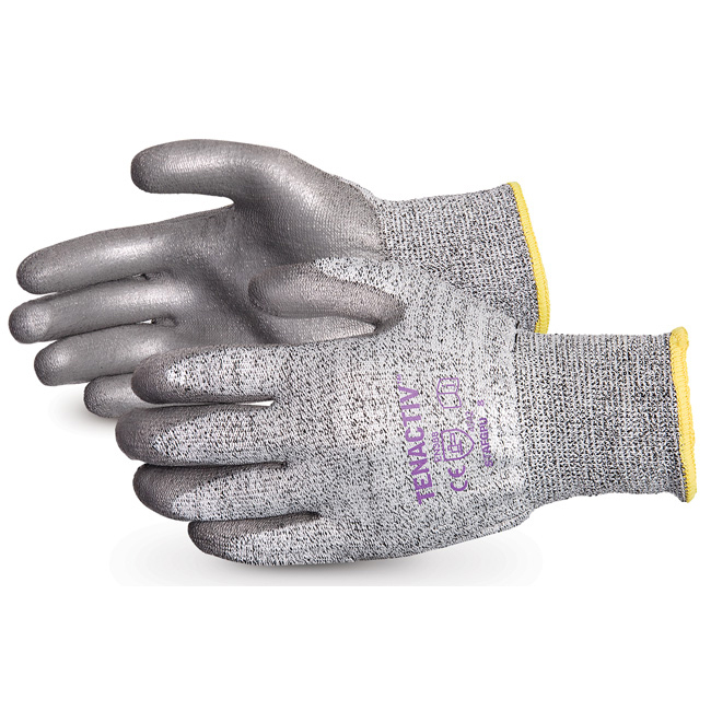 Superior Glove Tenactiv Cut-Resist Composite Knit PU Palm 9 Grey Ref SUSTAFGPU09 Up to 3 Day Leadtime