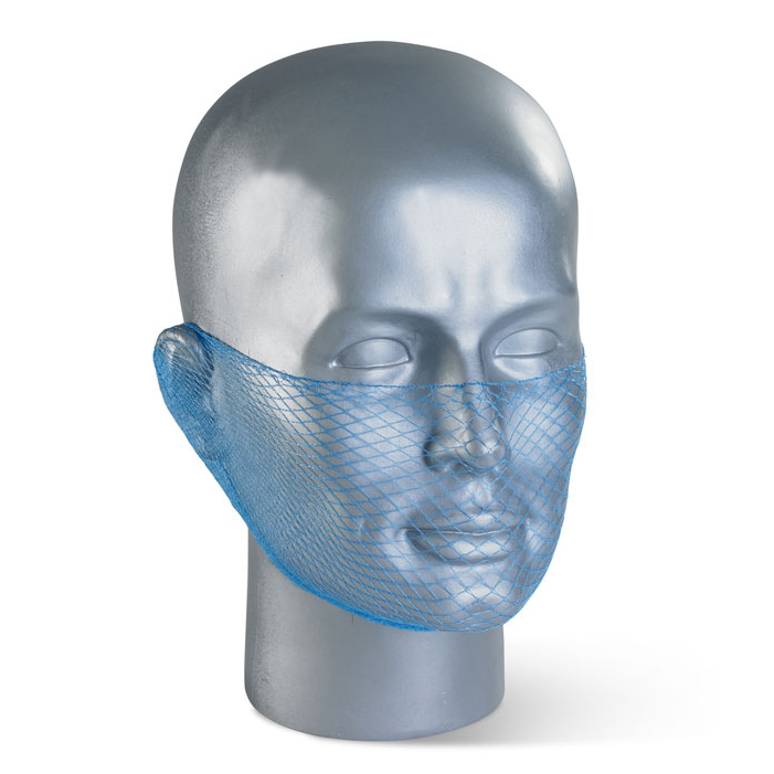 Protective hair net Click Once Disposable Beard Snood Mesh Blue Ref DBSBL Pack 12 *Up to 3 Day Leadtime*