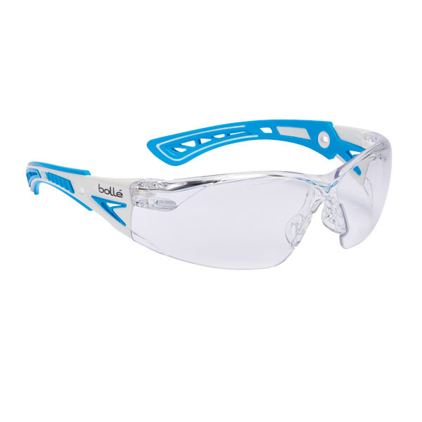 Bolle Rushplus Platinum Safety Glasses Clear/Blue Ref BORUSHPSPSIPLUS [Pack 10] Up to 3 Day Leadtime
