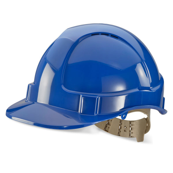 B-Brand Comfort Vented Safety Helmet Blue Ref BBVSHB *Up to 3 Day Leadtime*