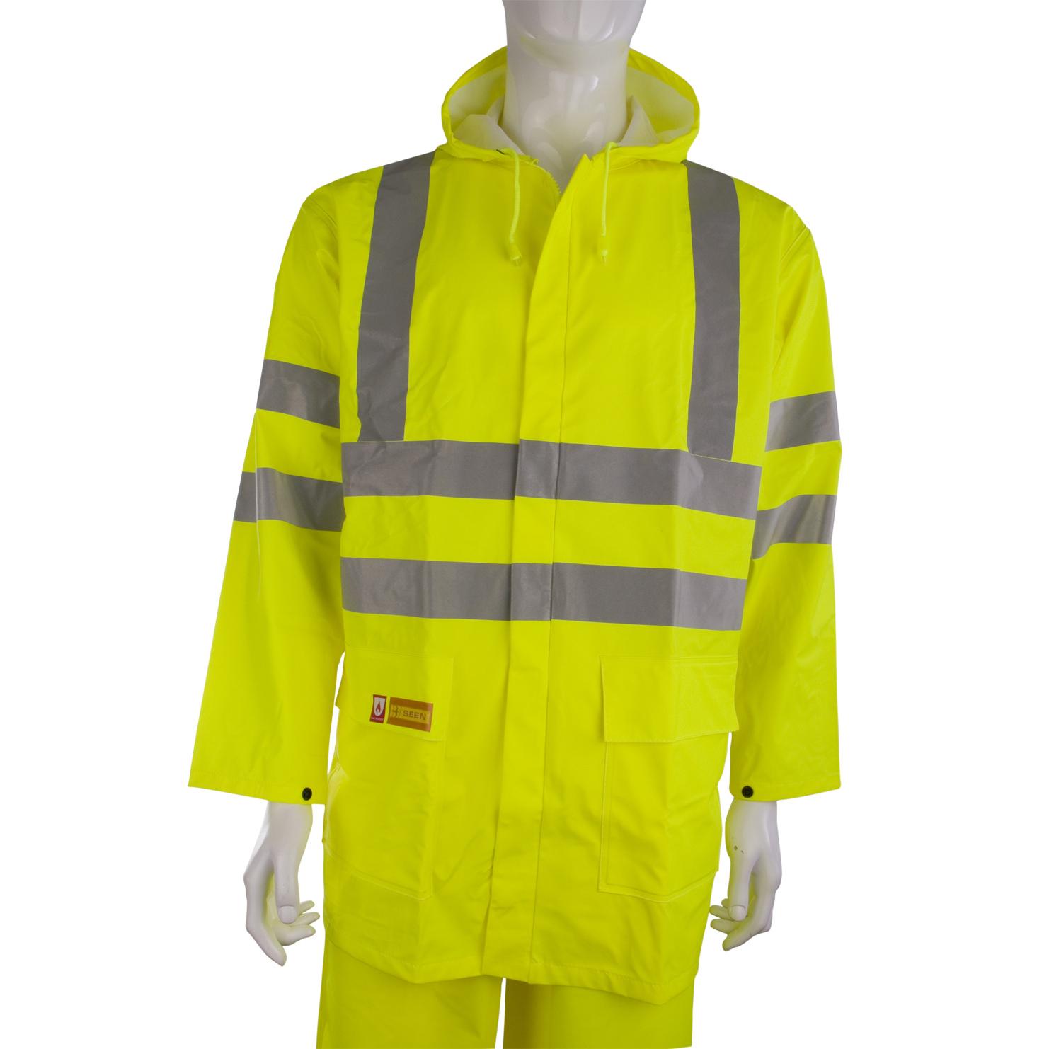 Weatherproof B-Seen Fire Retardant Jacket Anti-static 4XL Sat Yellow Ref CFRLR55SYXXXXL *Up to 3 Day Leadtime*