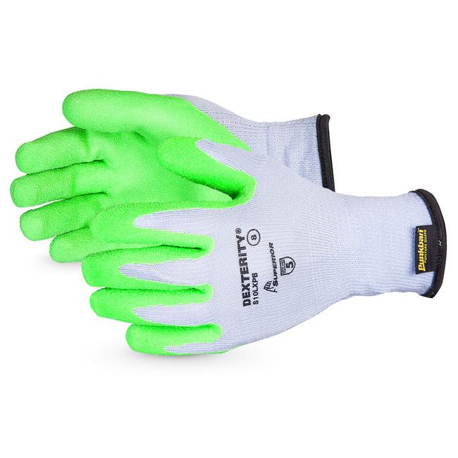 Superior Glove Dexterity 10-G Hi-Vis Latex Palm Size 7 Green Ref SUS10LXPB07 Upto 3 Day Leadtime