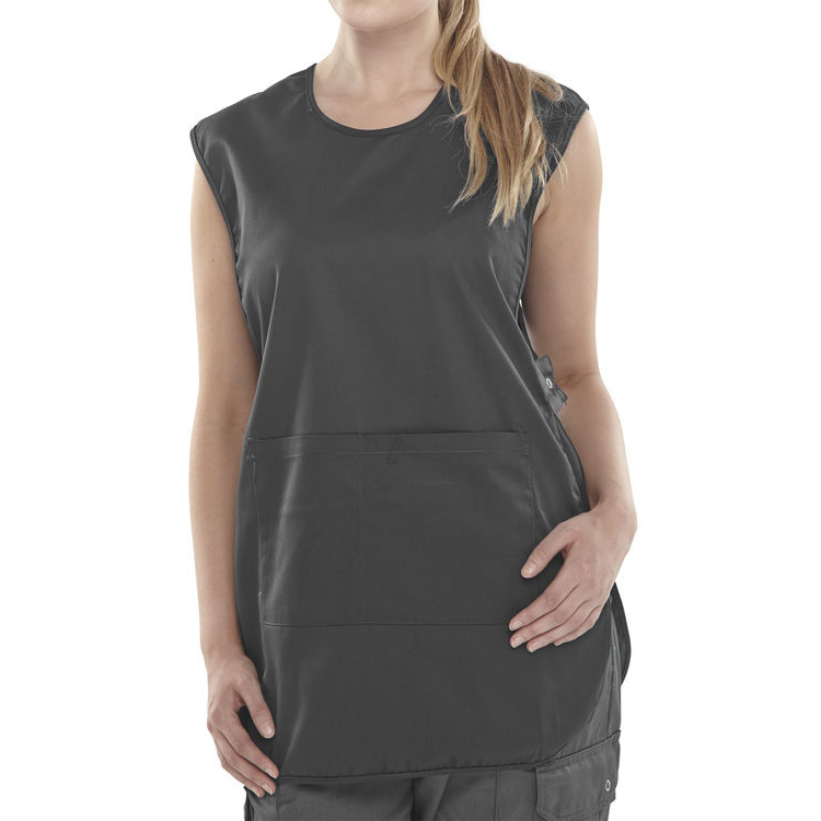 Click Workwear Tabbard PolyCotton Side Fastening Medium Black Ref PCTABBLM *Up to 3 Day Leadtime*