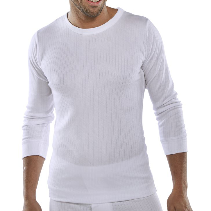 Click Workwear Vest Long Sleeve Thermal Lightweight M White Ref THVLSWM *Up to 3 Day Leadtime*