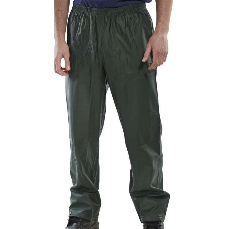 B-Dri Weatherproof Super Trousers L Olive Green Ref SBDTOL *Up to 3 Day Leadtime*