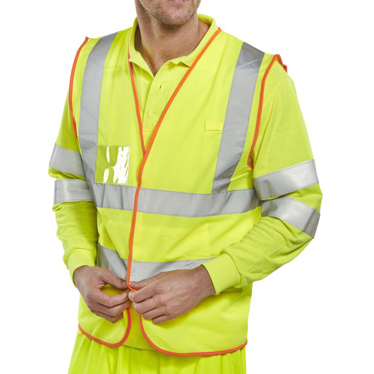 B-Safe Pre-Pack Vest Multipurpose Reflective M Saturn Yellow Ref BS061M Up to 3 Day Leadtime