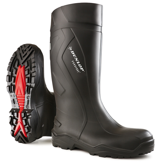 Footwear Dunlop Purofort Plus Safety Wellington Boot Size 12 Black Ref C76204112 *Up to 3 Day Leadtime*